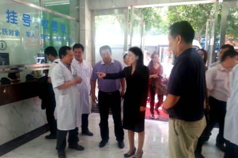 龙广艳副市长、李力局长到我中心视察指导工作