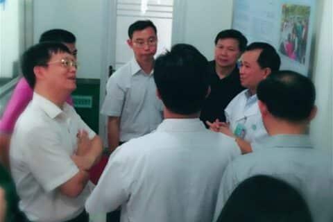 温国辉副省长到我中心调研指导工作